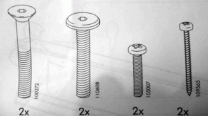 Ikea screws